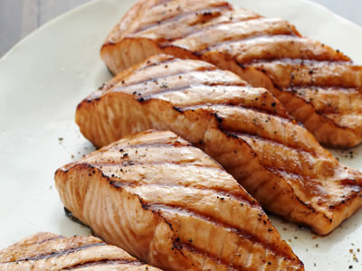 Salmon with Sweet Asian marinade